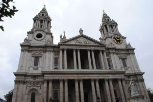 The front of St. Paul's Cathedral