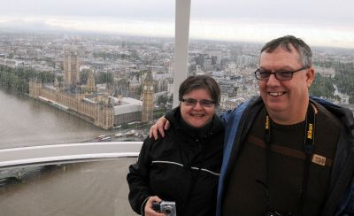 Linda and I on the London Eye, photo by Kevin Argue
