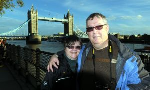 Us with Tower Bridge in the background, photo by Kevin Argue