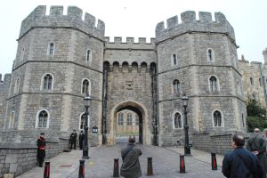 The entrance gates to Windsor Castle