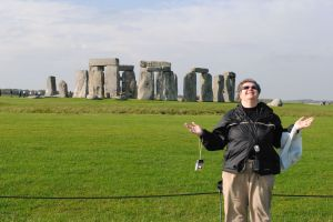 A sun worshipper at Stonehenge