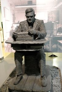 Sculpture of Alan Turing at Bletchley Park Museum