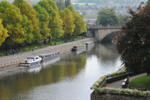 The Scenic canal that flows through Bath