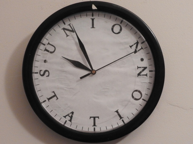 In the meantime, here's a photo of a fun Union Station clock face I made plus...