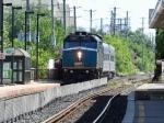 VIA train 85 approaches Brampton